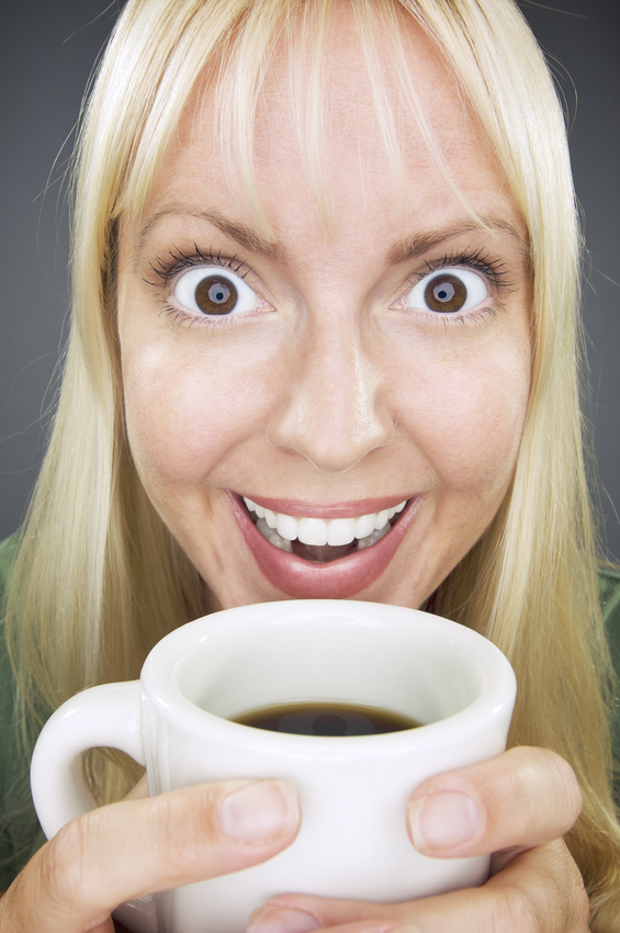 ZING!! Woman has big eyes for Coffee!