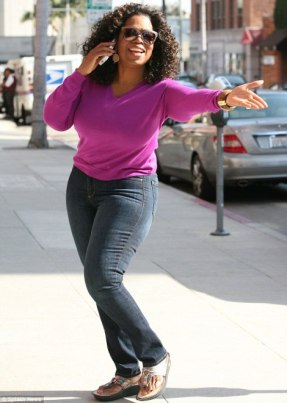 oprah on the phone