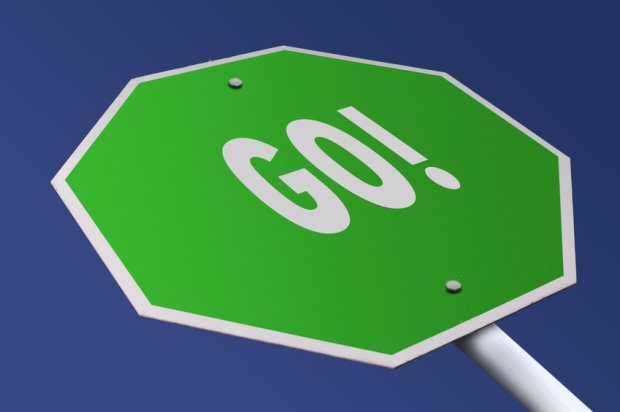 Stop sign that says GO!