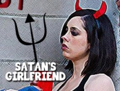 Satan's Girlfriend, Girl with Pitchfork and horns