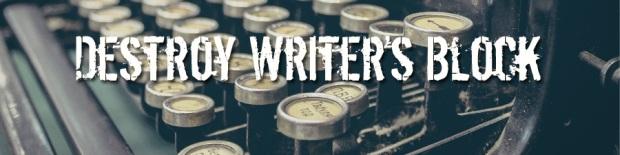 Destroy Writer's Block: Photo of typewriter keys